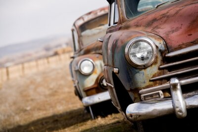 Obraz porzucone samochody