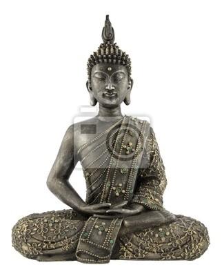 Posąg Buddy na białym tle