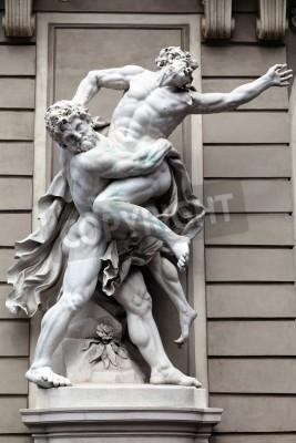 Obraz Posąg Herkulesa walki ANTAEUS w Hofburg Quarters, Wiedeń
