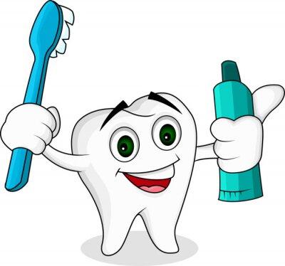 Obraz Postać z kreskówek Tooth