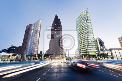 Potsdamer Platz i noc Traffic