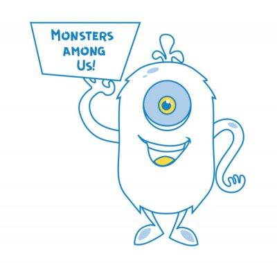 Potwór w stylu doodle