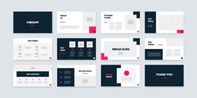 Obraz powerpoint and keynote presentation slides design template