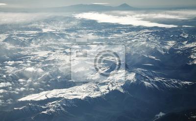 Powietrzny obrazek Andes pasmo górskie, Chile.