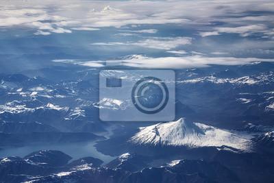 Powietrzny obrazek Andes pasmo górskie, Chile