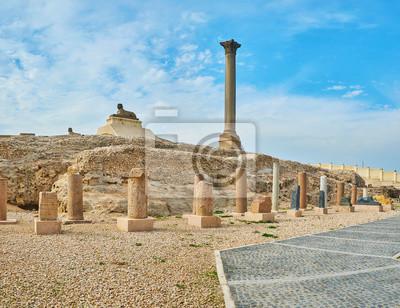 Pozostałości okresu rzymskiego w Aleksandrii w Egipcie