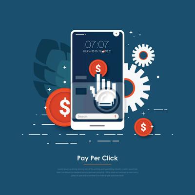 PPC on mobile vector design