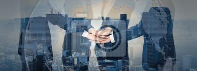 Obraz Praca zespołowa koncepcji biznesowej.