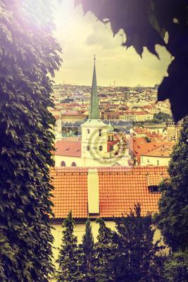 Praga, Republika Czeska, w stylu retro, vintage, Instagram.