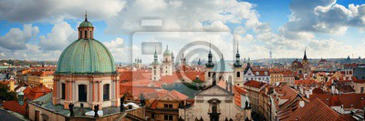 Praga skyline dachu widok kopuły