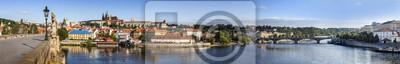 Praga widok panoramiczny, Czechy.