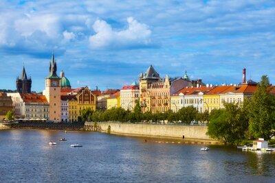 Prague cityscape on a beautiful sunny day, Czech Republic.