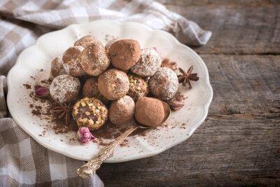 Obraz praliny czekoladowe w płycie