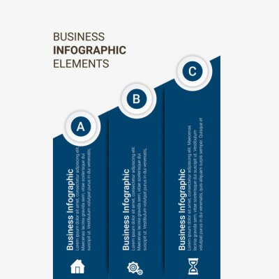 Presentation business infographic template with 3, 4, 5, 6 options. Vector illustration.