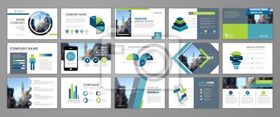Obraz Presentation flyer set