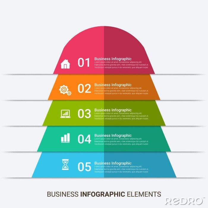 Obraz Presentation Template design. Business data graphs. Vector financial and marketing charts.