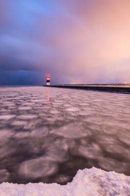 Presque Isle Lighthouse at Sunset (poziomo)