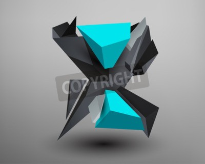 Obraz Prism 3D czcionki - x