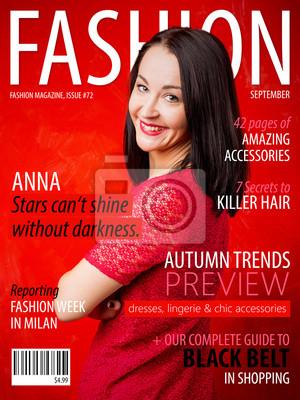 Obraz Próbka mody okładkę magazynu