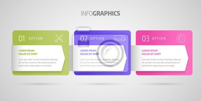 Process chart. Business data. Abstract element of chart, graph, diagram with 3 steps, options, parts, processes. Infographics design vector and marketing icons.
