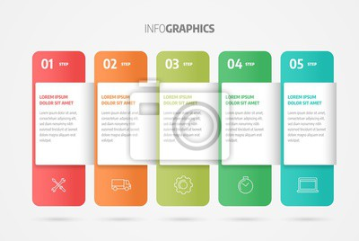 Process chart. Business data. Abstract element of chart, graph, diagram with 5 steps, options, parts, processes. Infographics design vector and marketing icons.