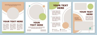 Obraz Products review brochure template. Marketing campaign. Flyer, booklet, leaflet print, cover design with copy space. Your text here. Vector layouts for magazines, annual reports, advertising posters