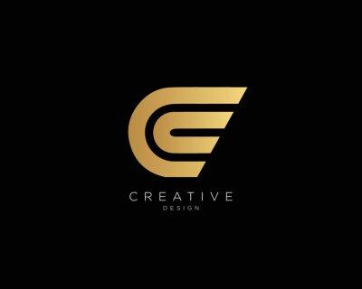 Obraz Professional and Minimalist Letter C CC Logo Design, Editable in Vector Format