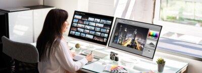 Obraz Professional Graphic Designer Woman Working