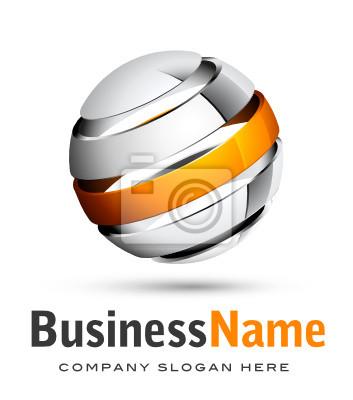Projekt 3D Biznes logo
