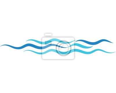 Obraz Projekt fali wektorowej wody