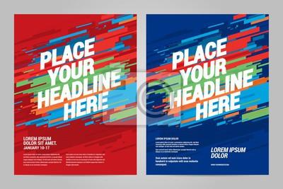Projekt layoutu Szablon zaproszenia sportowe. Można dostosować do broszury, raportu rocznego, magazynu, plakatu.
