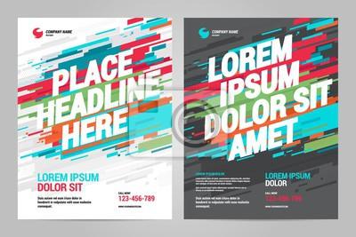 Obraz Projekt layoutu Szablon zaproszenia sportowe. Można dostosować do broszury, raportu rocznego, magazynu, plakatu.
