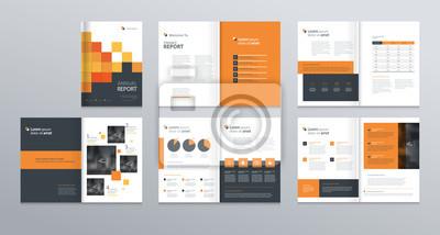 Obraz projekt layoutu szablonu z okładką do profilu firmy, raport roczny, broszury, ulotki, prezentacje, ulotki, czasopisma, książki. i wektor formatu a4 do edycji.