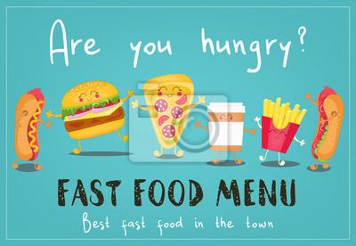 Projekt menu fast food