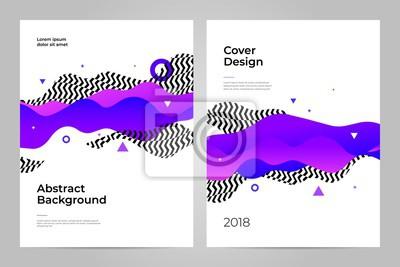 Projekt okładki. Streszczenie tło z efektem dynamicznym. Futurystyczny styl technologii.