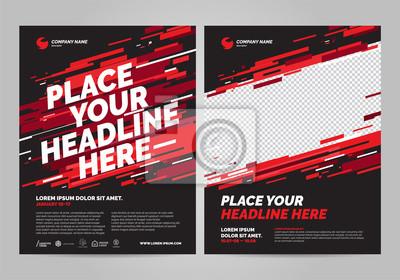 Projekt plakatu sportowego szablon zaproszenia. Można dostosować do broszury, raportu rocznego, magazynu, plakatu.