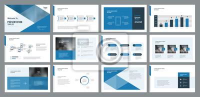 Obraz projekt prezentacji szablonów i projektowania układu strony dla broszury, książki, czasopisma, raportu rocznego i profilu firmy, z projektowaniem elementów graficznych informacji
