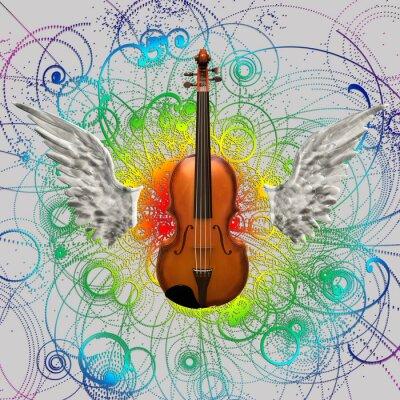 Obraz Projekt skrzypce