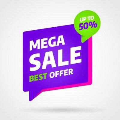 Projekt szablonu baneru sprzedaży, najlepsza oferta Mega sprzedaży. Koniec sezonu. Ilustracji wektorowych.
