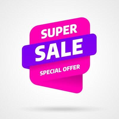 Projekt szablonu banner sprzedaż, oferta specjalna Super sprzedaż. Koniec sezonu. Ilustracji wektorowych.