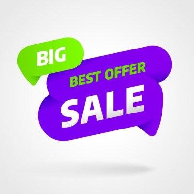 Projekt szablonu sprzedaż transparent, najlepsza oferta duża sprzedaż. Koniec sezonu. Ilustracji wektorowych.