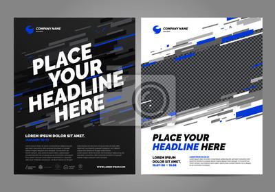 Projekt szablonu układu broszury. Można dostosować do broszury, raportu rocznego, czasopisma, plakatu, ulotki, baneru, strony internetowej.