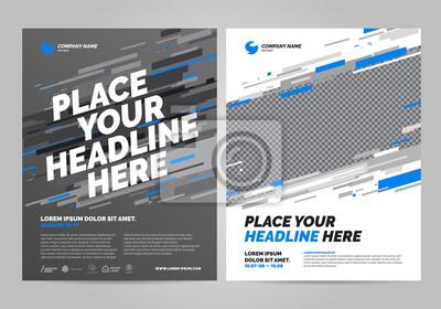 Projekt szablonu układu broszury. Można dostosować do raportu rocznego, plakatu, ulotki, banera.