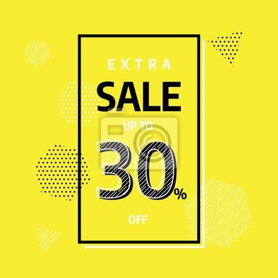 Projekt szablonu żółty banner, oferta specjalna Big sprzedaży. Ilustracji wektorowych.