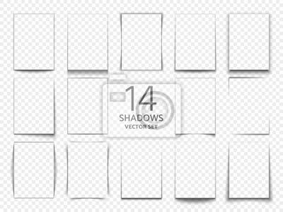 Obraz Prostokątne ramki cieniowe z arkuszy papieru. 3d przezroczyste cienie efekt