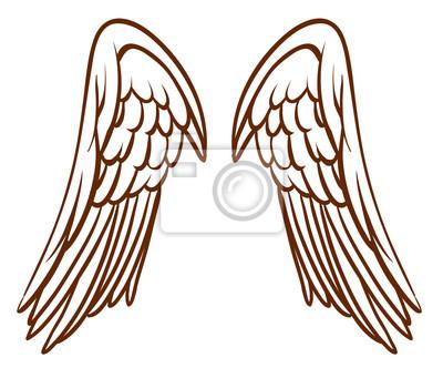 Obraz prosty szkic anio a skrzyde na wymiar t o z y - Ailes d ange dessin ...