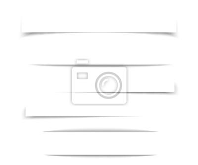 Obraz Przejrzysty realistyczny cień papieru