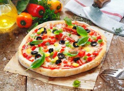 Obraz Przepyszne domowej pizzy