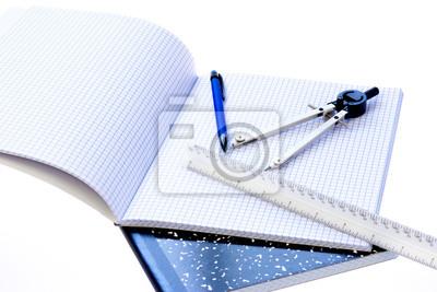 112832f8e1ac4 Obraz Przybory szkolne kompas