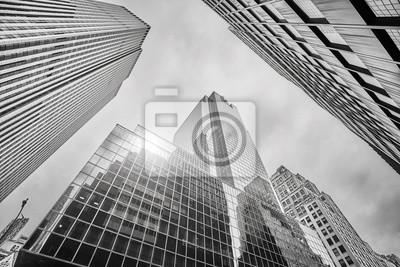 Obraz Przyglądający przy Manhattan drapaczami chmur up, Miasto Nowy Jork, usa.